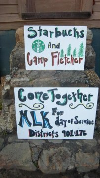 Starbucks serving Camp Fletcher on MLK Day