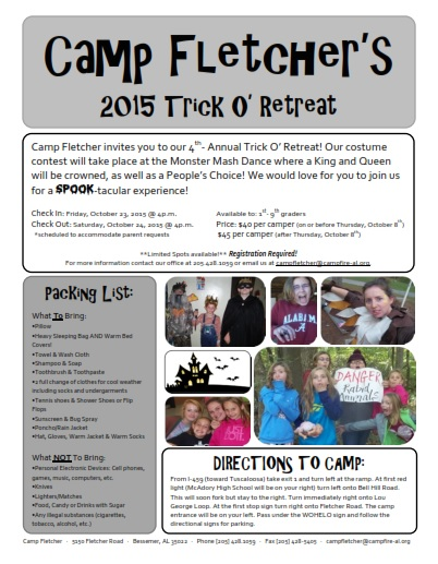2015 Trick or Treat Flyer