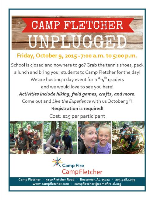 camp fletcher unplugged flyer