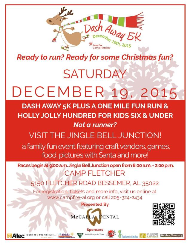 Dash Away 5K and Jingle Bell Junction Flyer