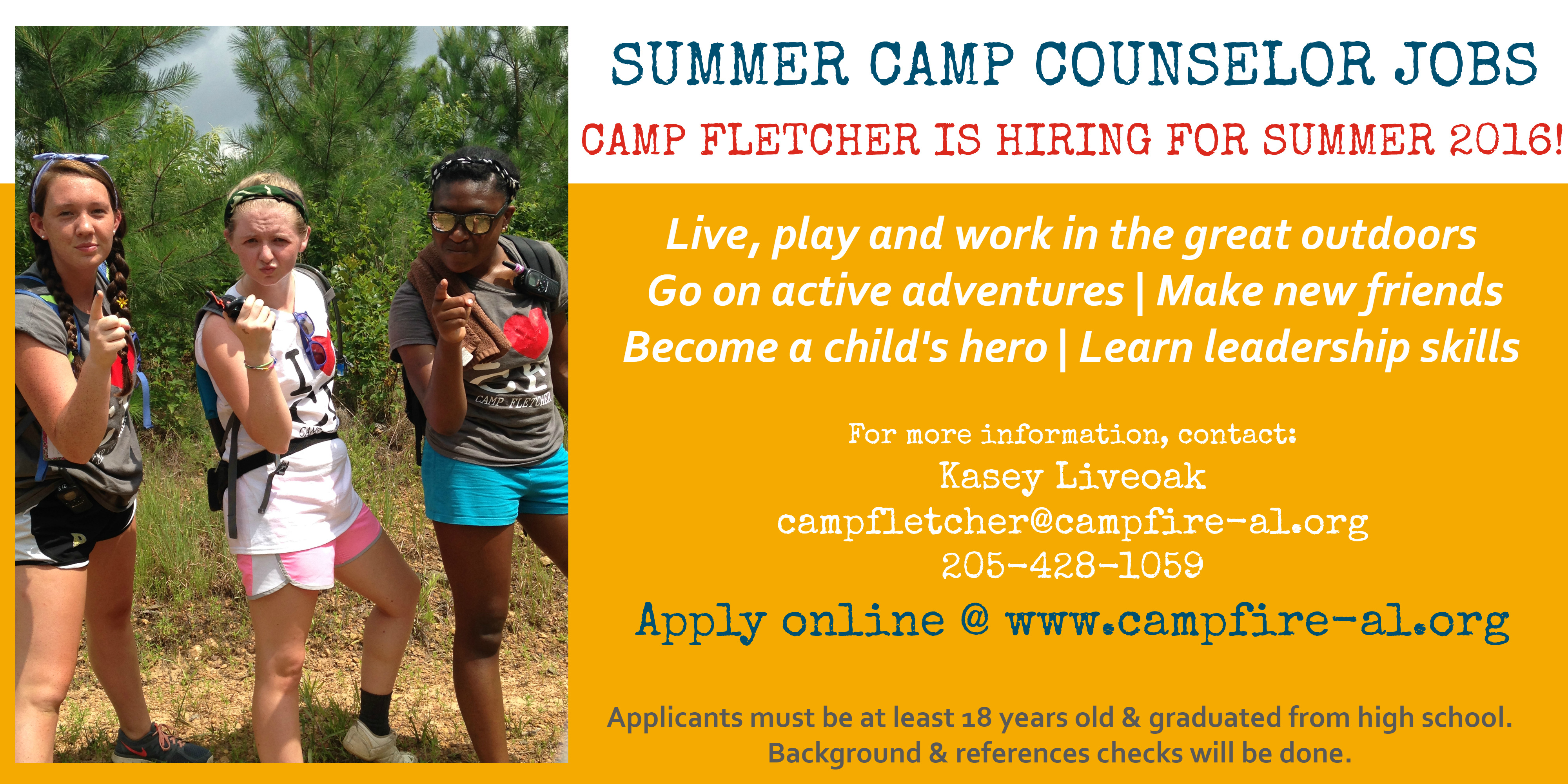 summer camp counselor jobs for highschool students